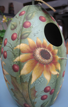 sunflower birdhouse xsmall